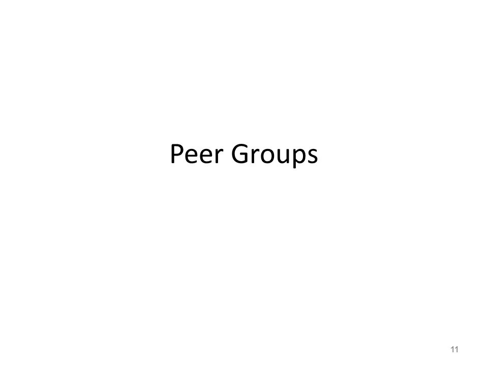 Peer Groups 11