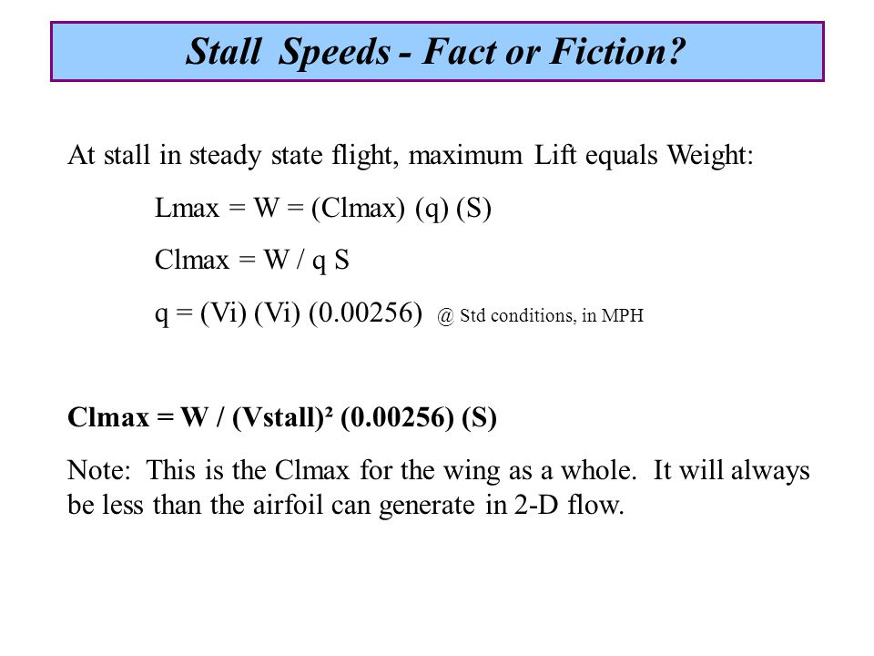 What parameters affect a wing's Clmax.