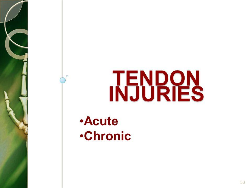 TENDON INJURIES 33 Acute Chronic