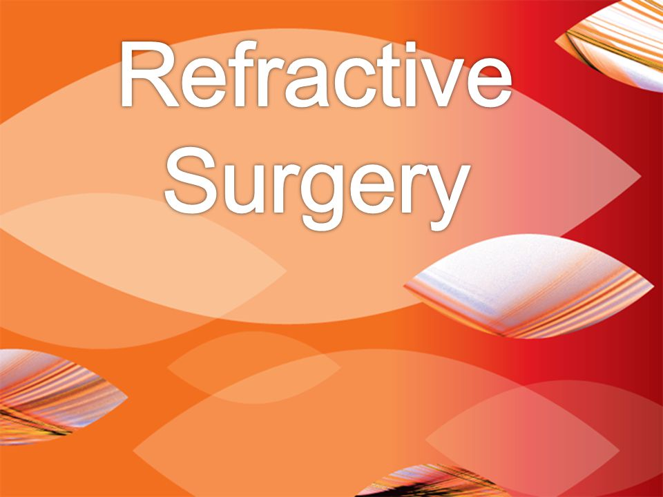 REFRACTIVE ERROR AND SURGERIES IN THE UNITED STATES 150 million wear eyeglasses or contact lenses 2.3 million refractive surgeries performed between 1995 and 2001 Introduction