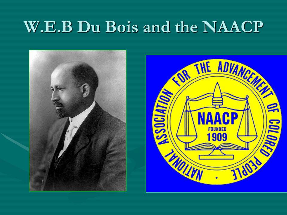 W.E.B Du Bois and the NAACP