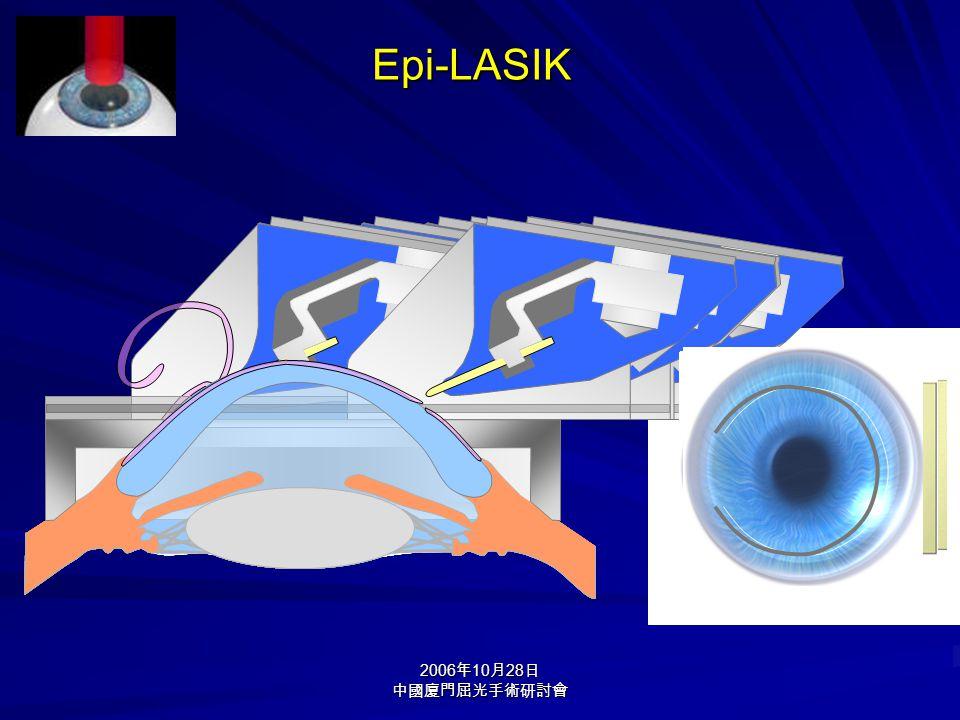 2006 年 10 月 28 日 中國廈門屈光手術研討會 Epi-LASIK