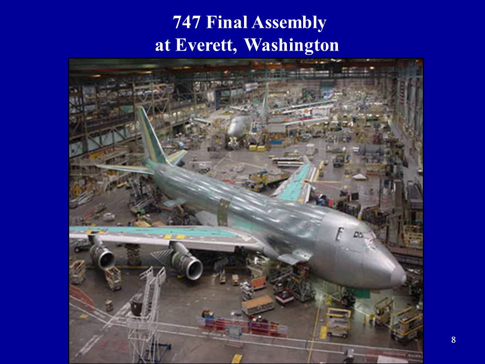 8 747 Final Assembly at Everett, Washington