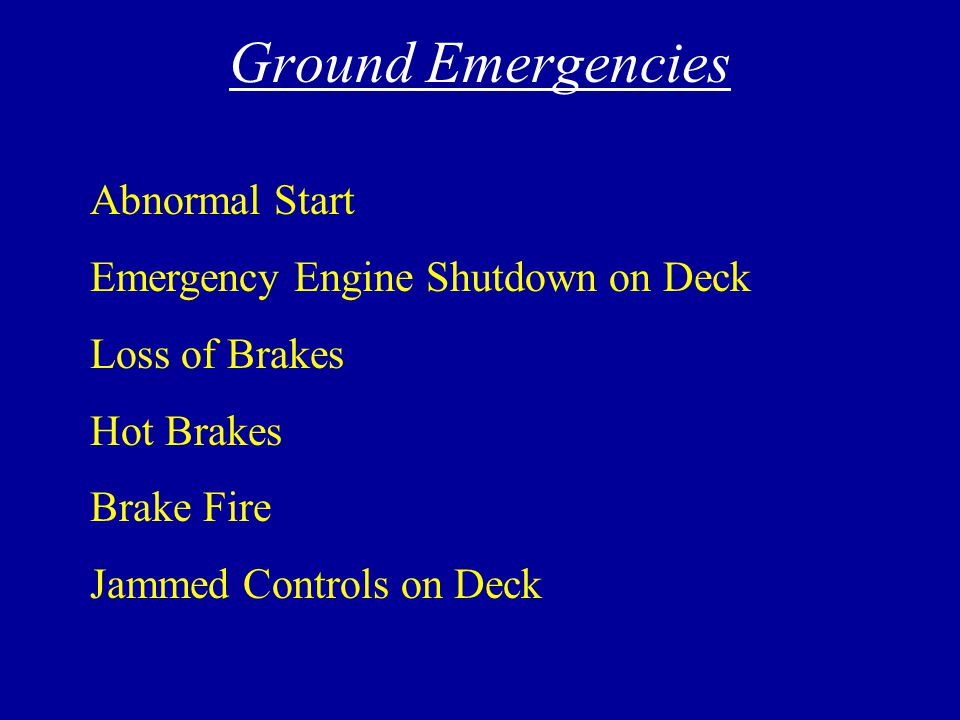 Ground Emergencies