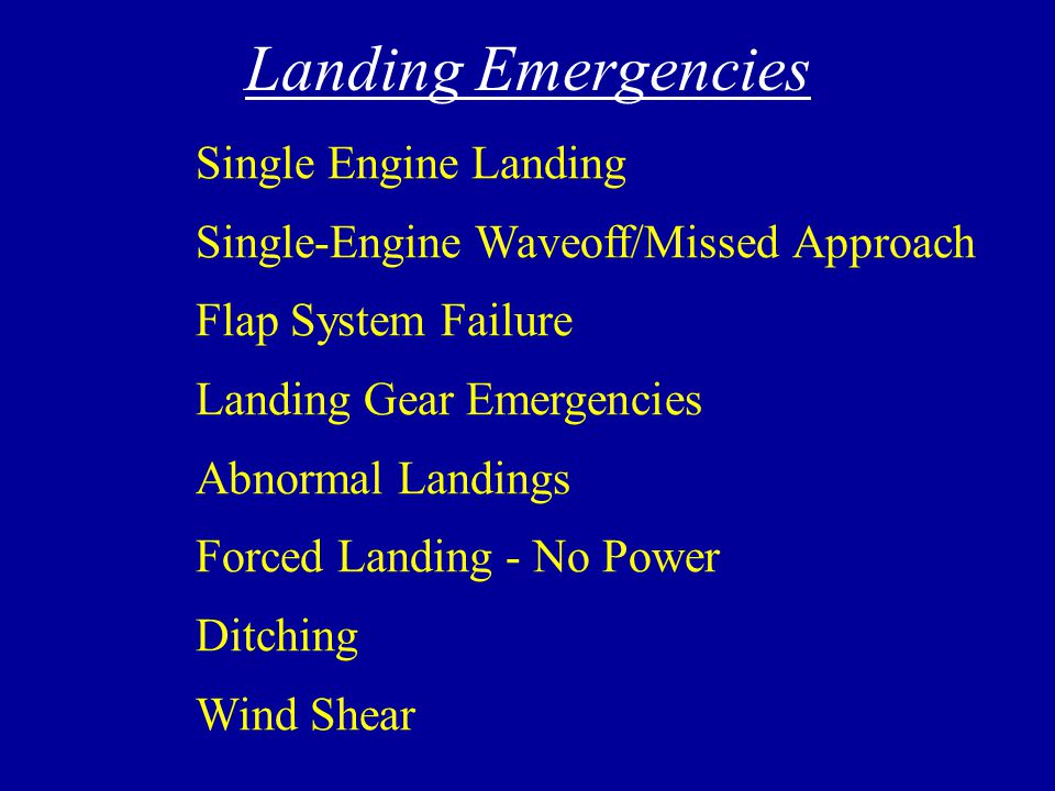 Landing Emergencies
