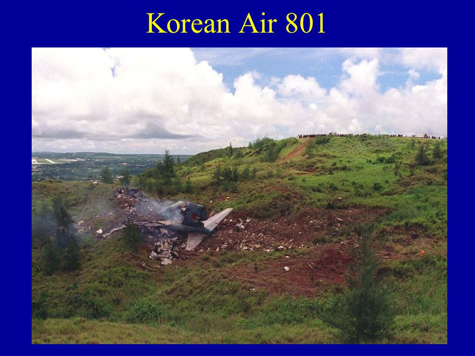 Korean Air 801 The aircraft was conducting a night-time approach to Guam Runway 06L. Because of the unavailability of the ILS glideslope system (due t