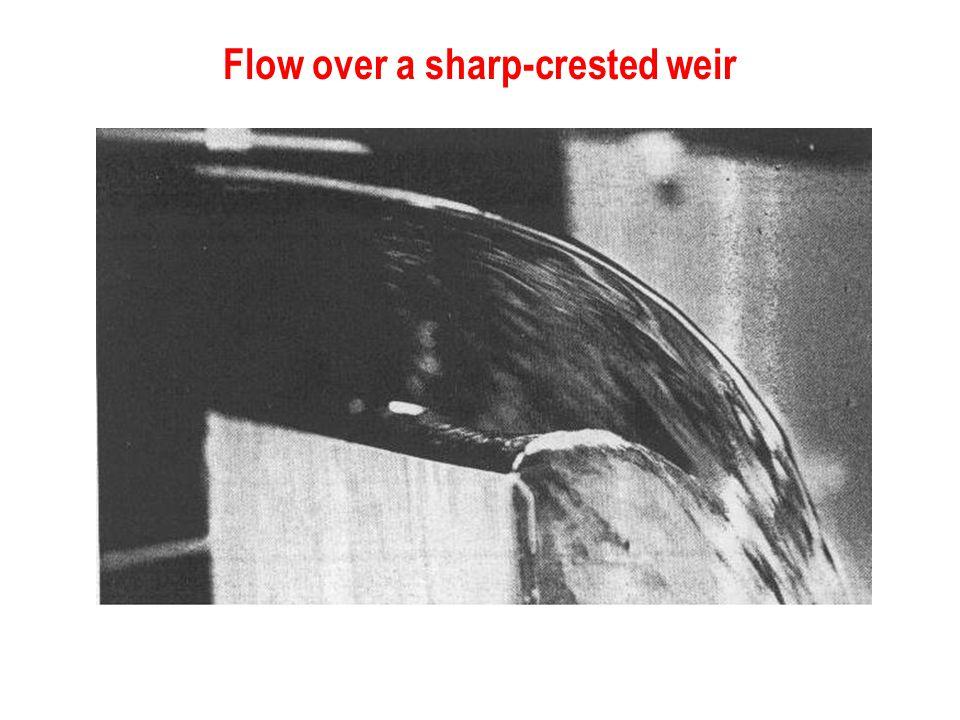 Flow over a sharp-crested weir