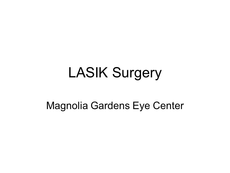 What is LASIK.