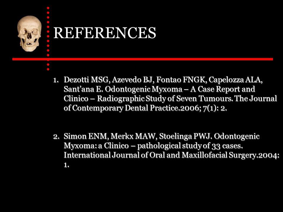 REFERENCES (Cont.) 3.Noffke CEE, Raubenheimer EJ, Chabikuli NJ, Michael.