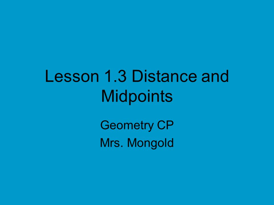 Chapter 1 Foldable Flap 2 Distance Formulas –Number Line PQ -34