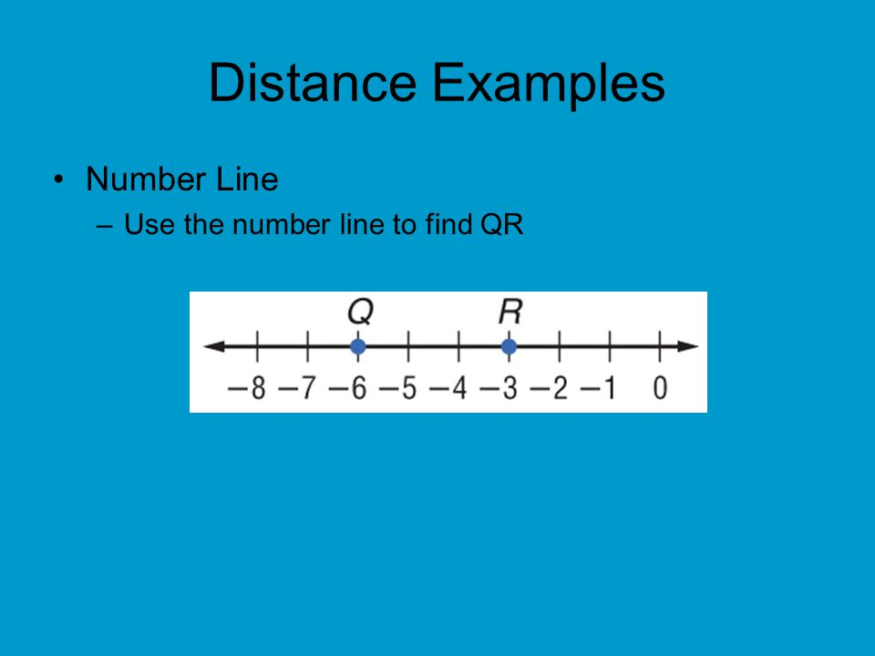 Answer The coordinates of Q and R are –6 and –3.