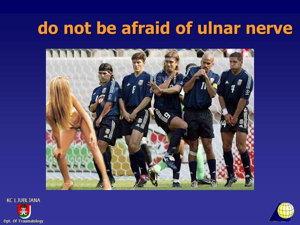 Dpt. Of Traumatology KC LJUBLJANA do not be afraid of ulnar nerve