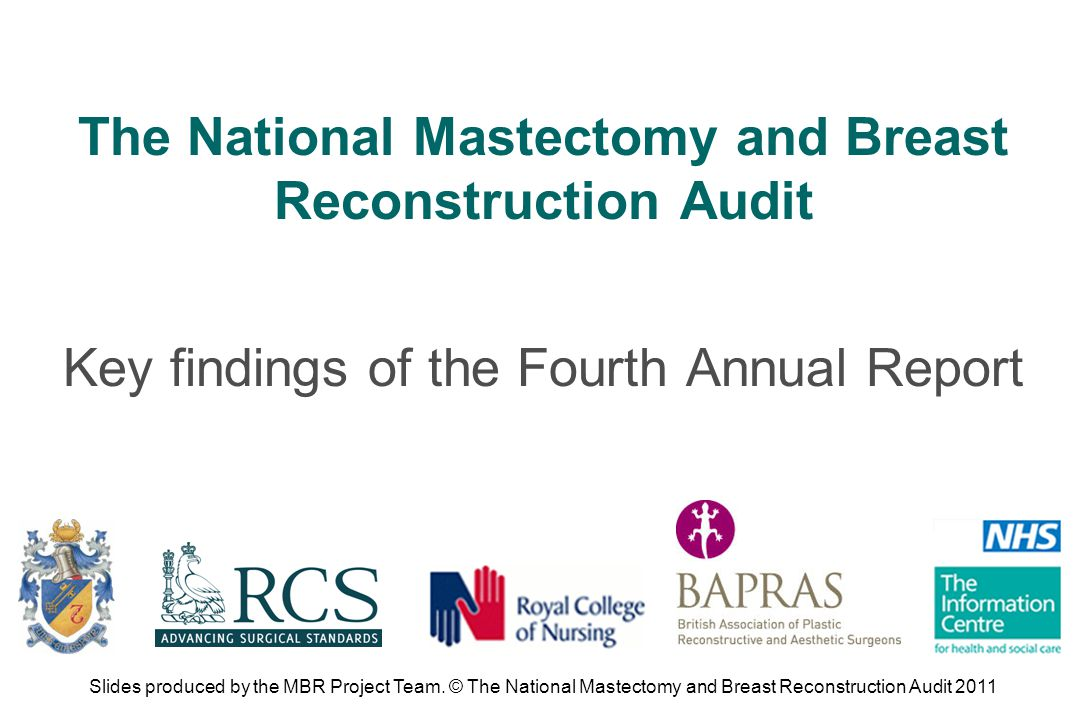 Those involved in the development of future guidelines on mastectomy and breast reconstruction should refer to the results of high achieving organisations when setting benchmarks for future audit.