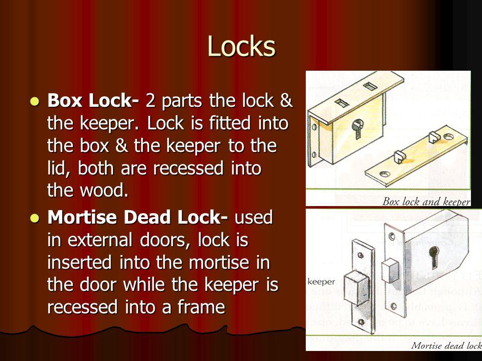 Locks Box Lock- 2 parts the lock & the keeper.