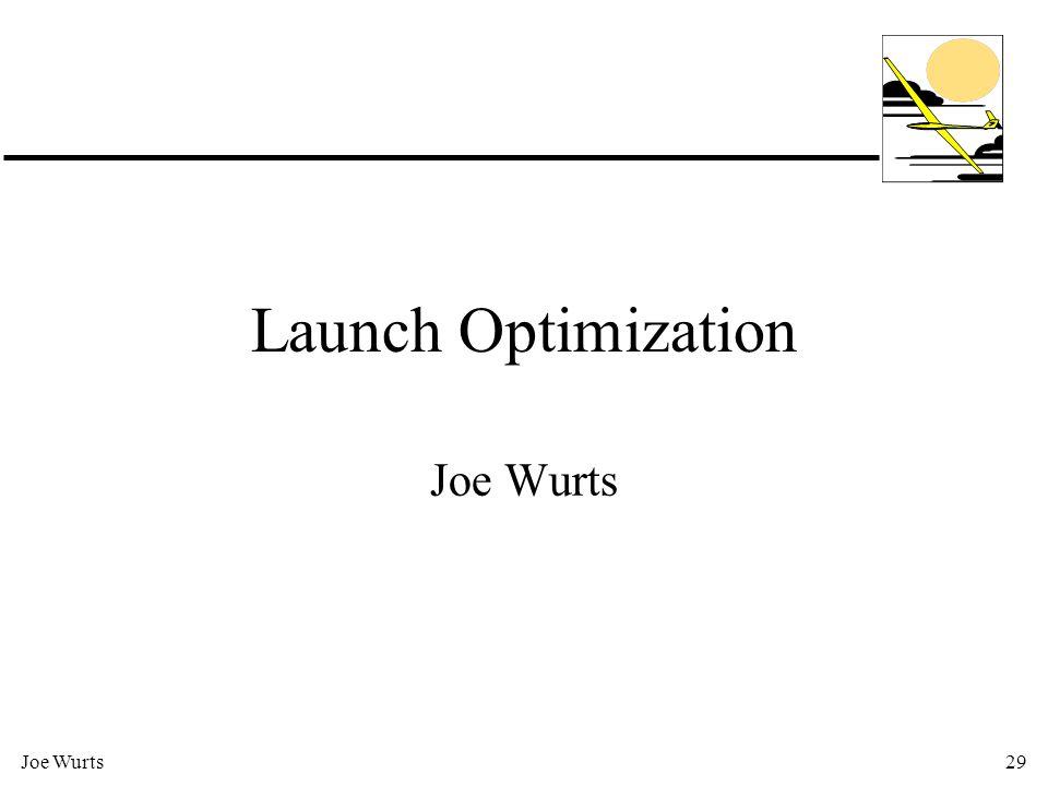 Joe Wurts29 Launch Optimization Joe Wurts