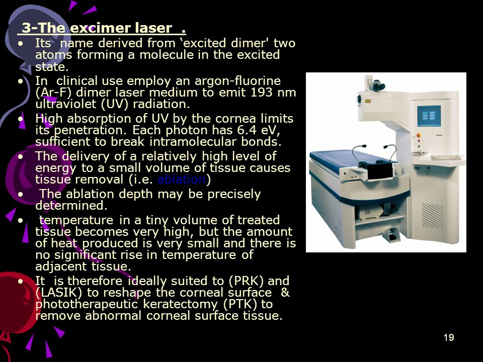 3-The excimer laser.