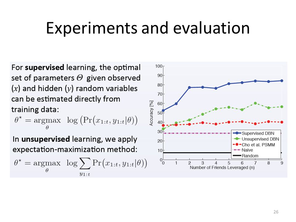 Experiments and evaluation 26