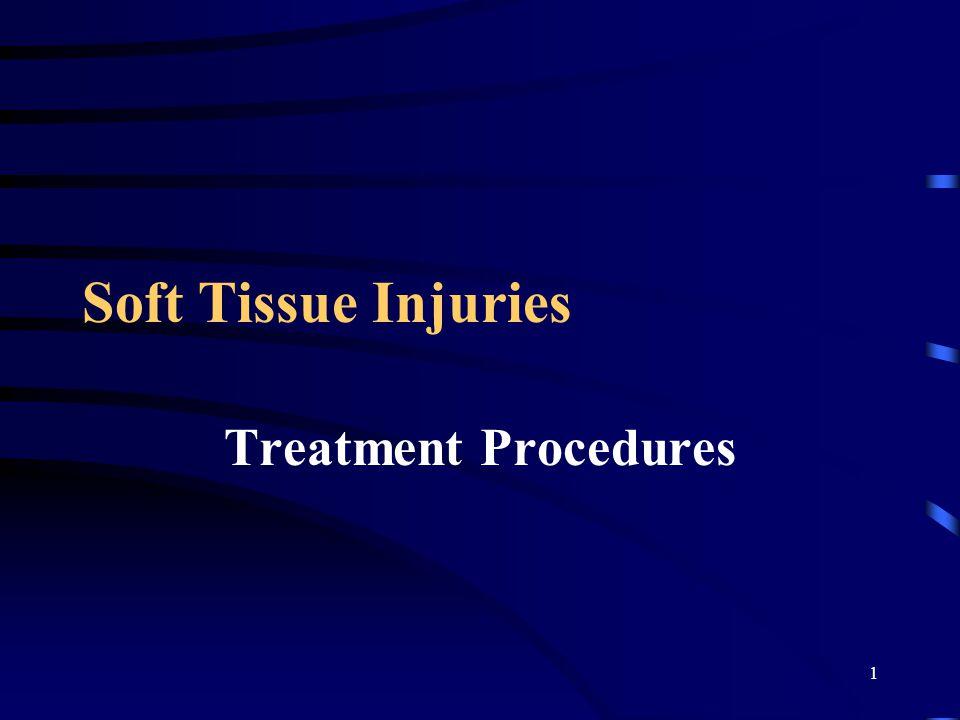 1 Soft Tissue Injuries Treatment Procedures