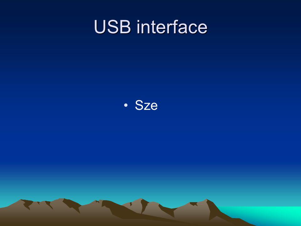 USB interface Sze
