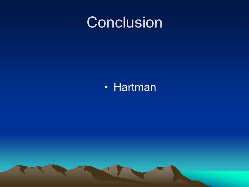 Conclusion Hartman