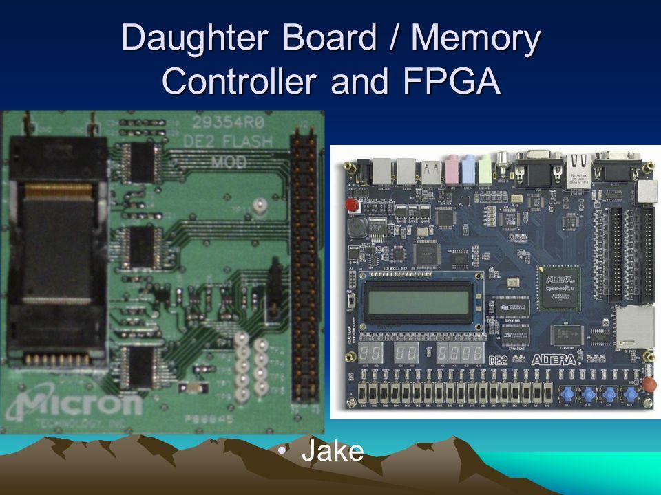 Daughter Board / Memory Controller and FPGA Jake