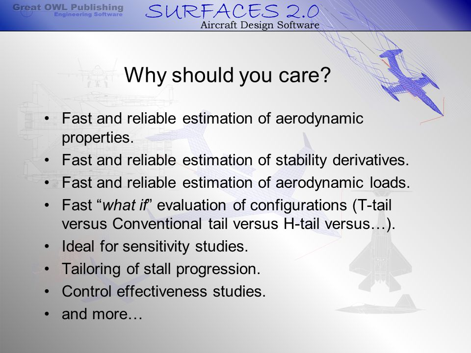 Why should you care. Fast and reliable estimation of aerodynamic properties.