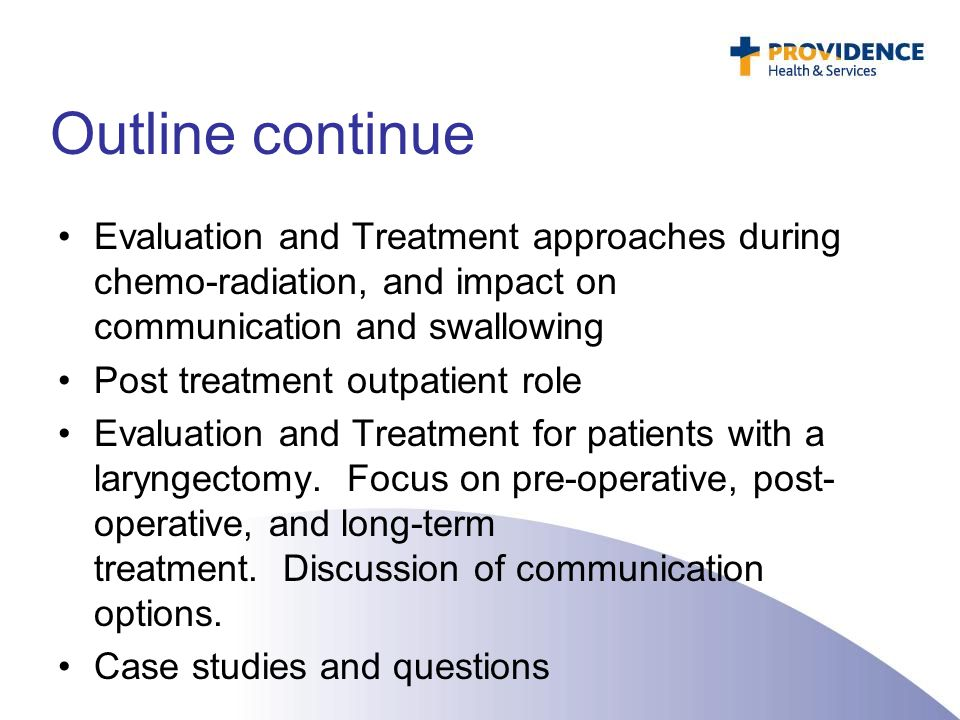 Dysphagia treatment during Chemo-Radiation Treatment