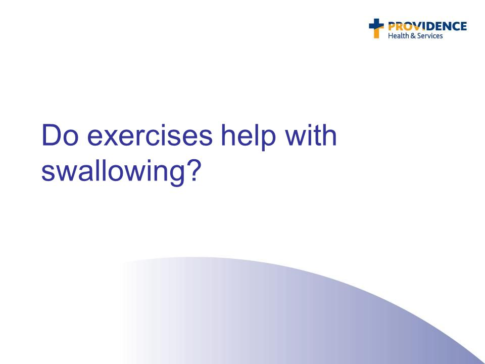 Do exercises help with swallowing?