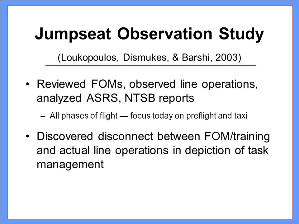 Ways Airlines Can Reduce Vulnerabilities Analyze actual line opswrite procedures to minimize opportunities for disruptions.