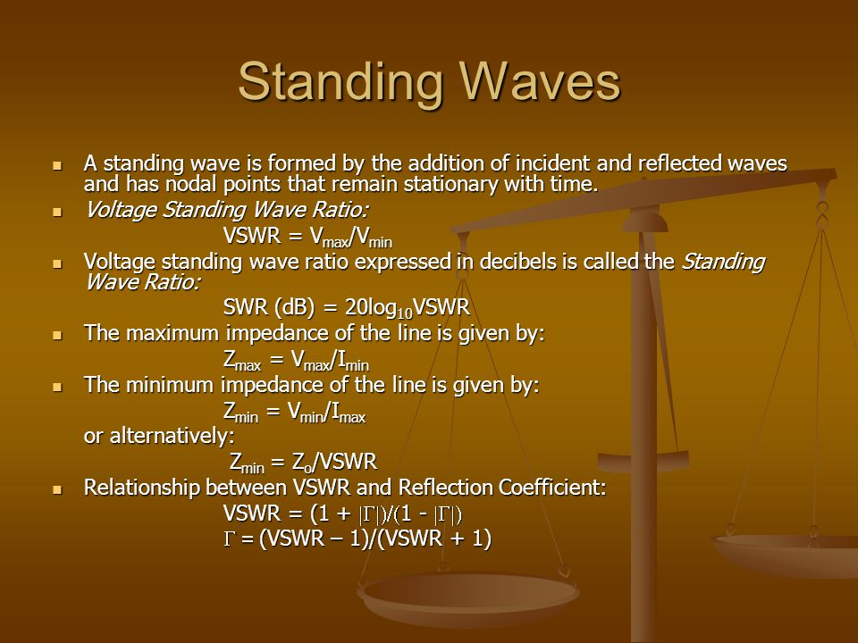 Standing Waves A standing wave is formed by the addition of incident and reflected waves and has nodal points that remain stationary with time. A stan