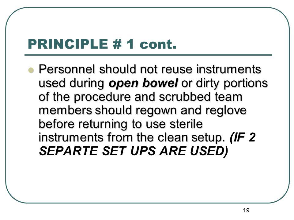 19 PRINCIPLE # 1 cont.