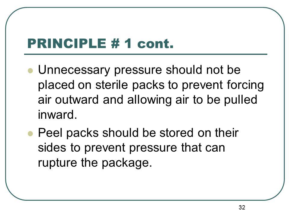 32 PRINCIPLE # 1 cont.