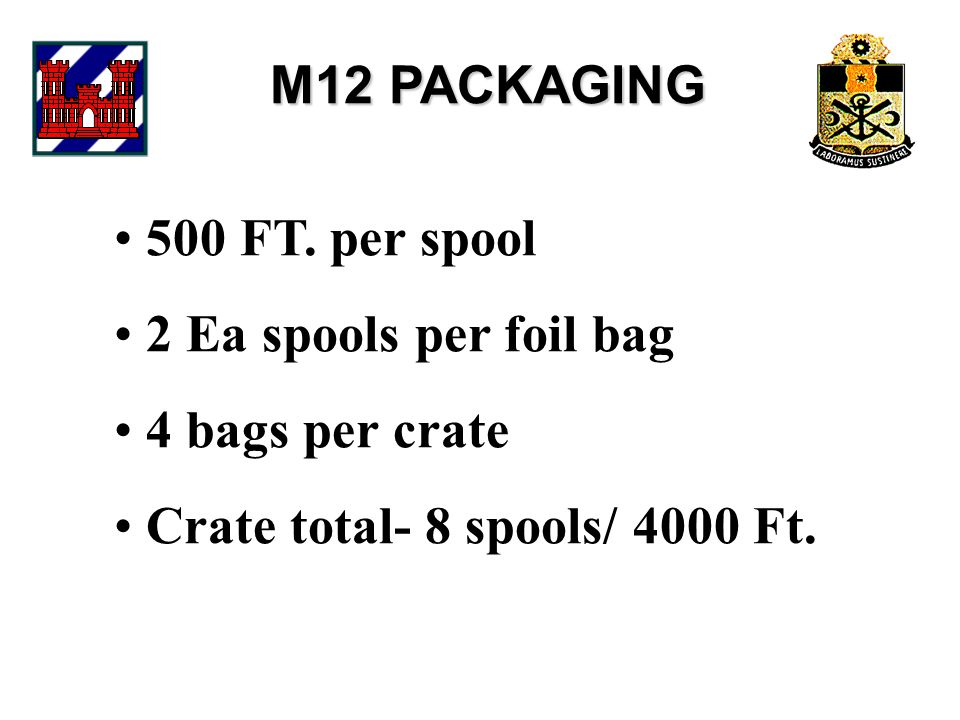 M12 PACKAGING 500 FT.