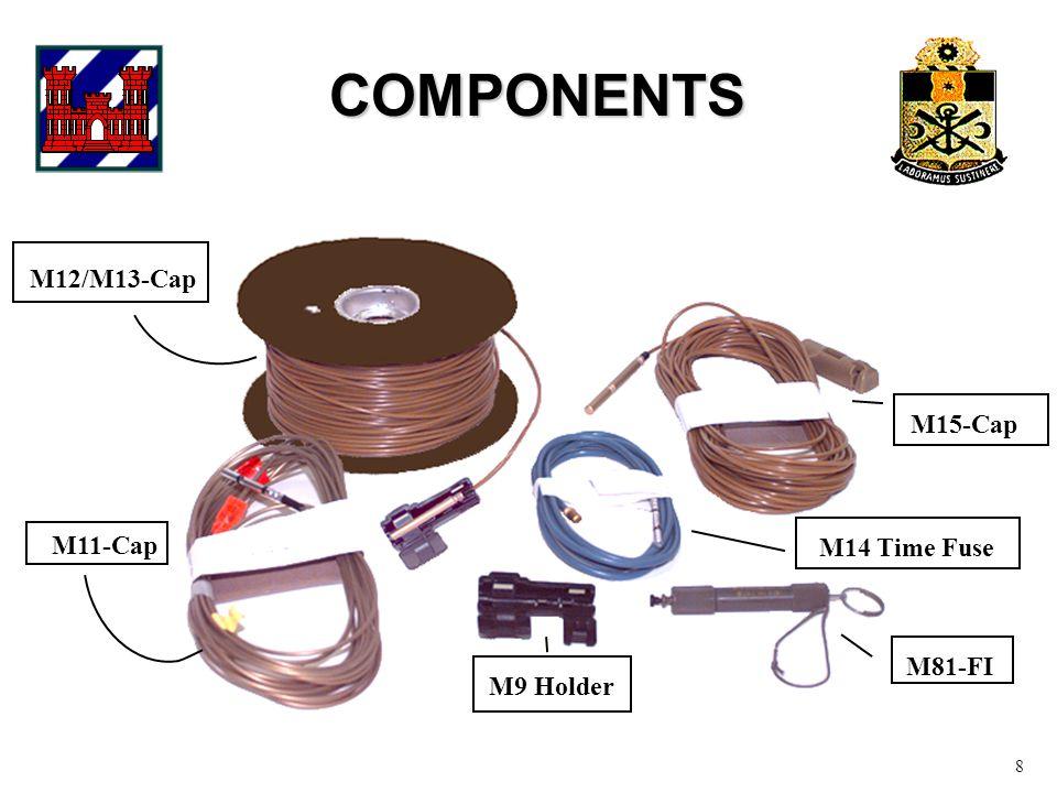 COMPONENTS 8 M9 Holder M11-Cap M12/M13-Cap M15-Cap M14 Time Fuse M81-FI