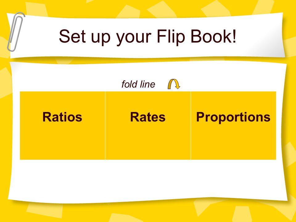 Set up your Flip Book! RatiosRatesProportions fold line