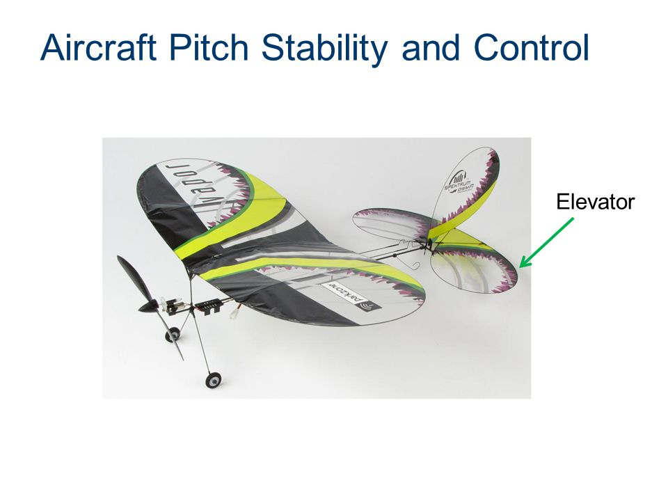Aircraft Pitch Stability and Control Elevator