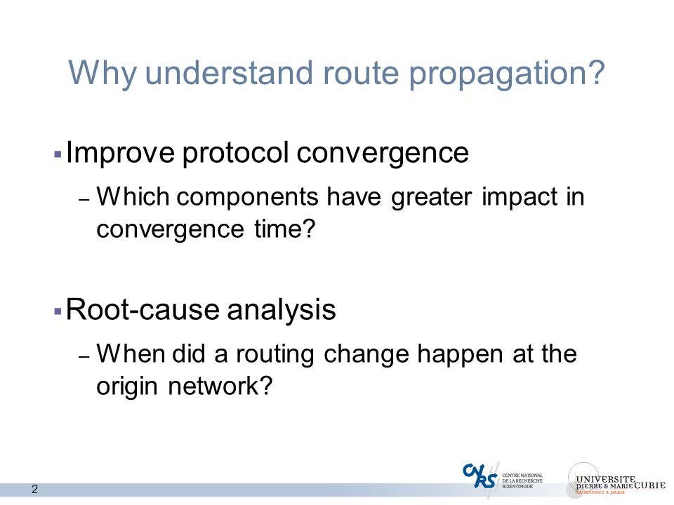 2 Why understand route propagation.