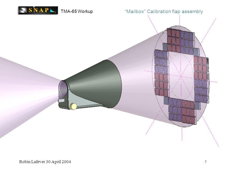 TMA-65 Workup Robin Lafever 30 April 20045 Mailbox Calibration flap assembly