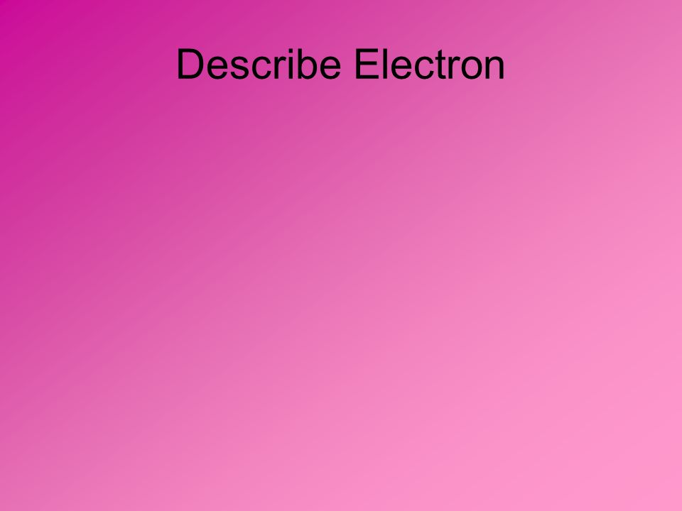 Describe Electron