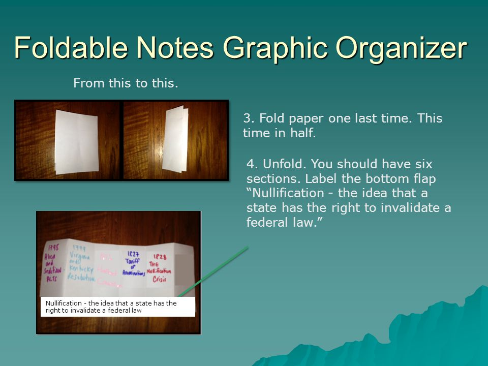 Foldable Notes Graphic Organizer 5.