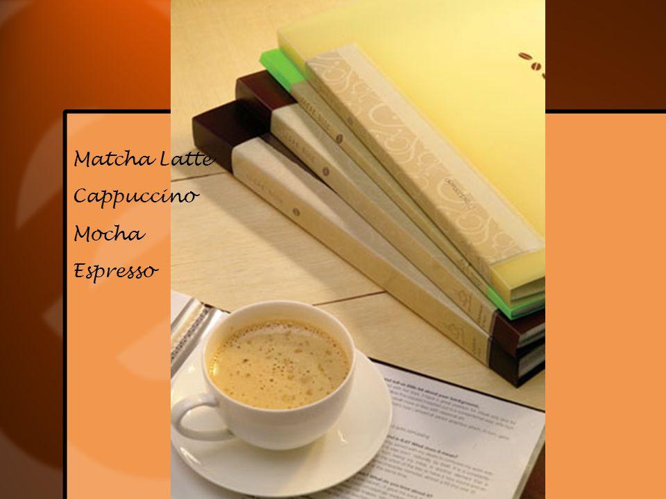 Matcha Latte Cappuccino Mocha Espresso