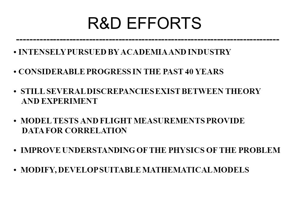 R&D EFFORTS -------------------------------------------------------------------------------- INTENSELY PURSUED BY ACADEMIA AND INDUSTRY CONSIDERABLE P