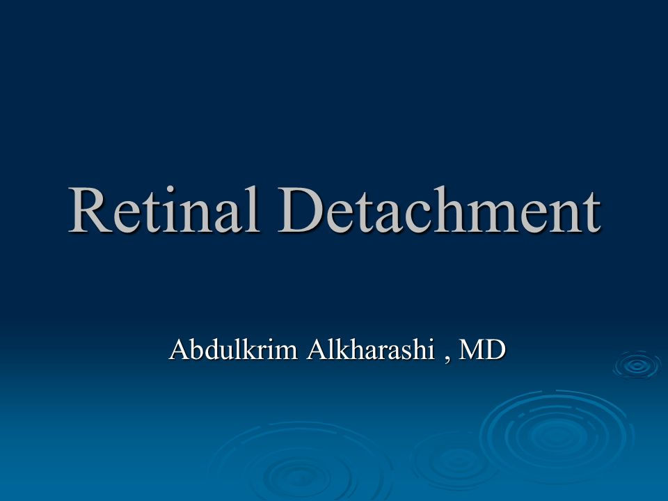 RD Prognosis: cont. Aphakic detachments.  Total detachments.