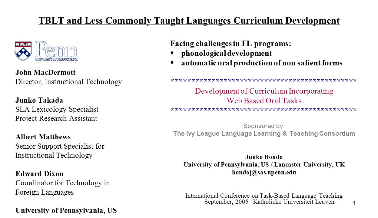 2 Challenges in Less Commonly Taught Languages Classroom  Limited exposure to the target language outside of the classroom presents difficulties -  phonological development Phonological adjustment is said to be difficult after the critical/sensitive period  automatic oral production of non salient forms Non salient linguistic features for L2 learners are reported to be difficult to learn and are prone to fossilize universally Attempt at a solution.