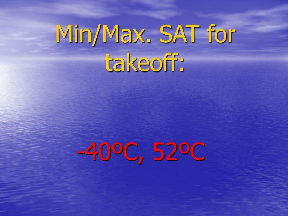 Min/Max. SAT for takeoff: -40ºC, 52ºC