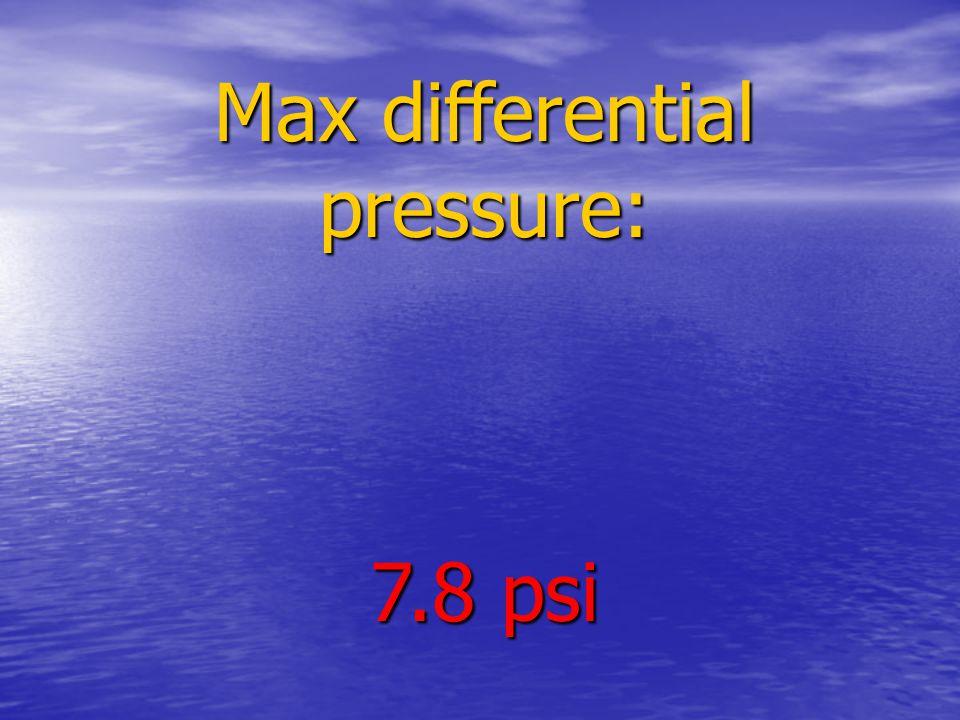 Max differential pressure: 7.8 psi