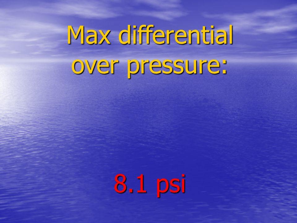 Max differential over pressure: 8.1 psi
