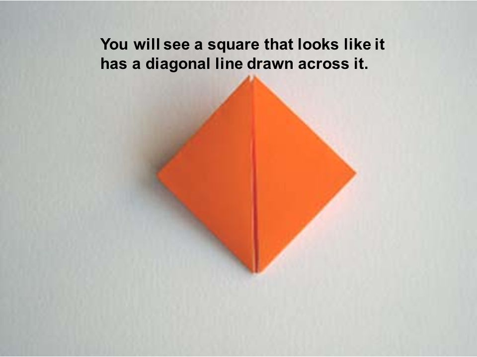 You will see a square that looks like it has a diagonal line drawn across it.