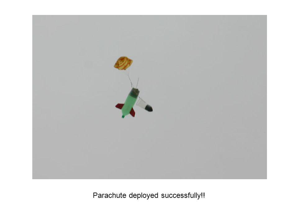 Parachute deployed successfully!!