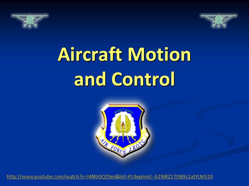 Aircraft Motion and Control http://www.youtube.com/watch?v=J4Ntr0OZ9es&list=PLIlxyInmt--h2fdR21TJt89L2atYLMS19